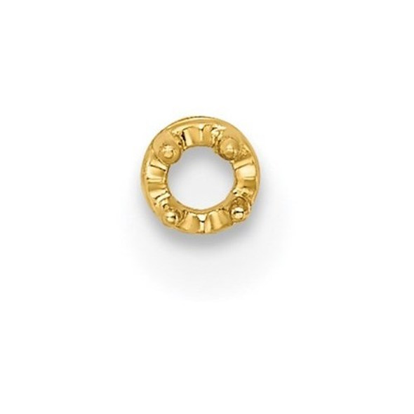 14k Yellow Gold Top Round Shaped 2.0mm Setting