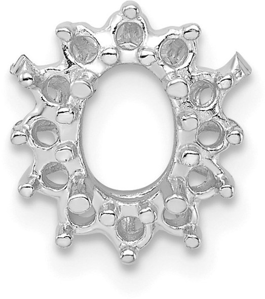 14k White Gold Cluster Oval 10 x 8mm Setting