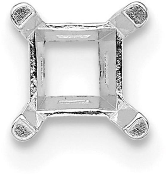 14k White Gold Princess 4-Prong 3.0mm Setting WG169-1