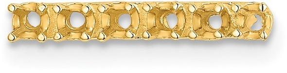 14k Yellow Gold 15.0 x 2.0mm Strip Setting