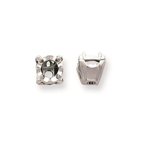 14k White Gold Illusion 4-Prong Box .06ct. Setting