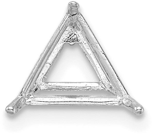 14k White Gold Triangle 6.5mm Wire Setting