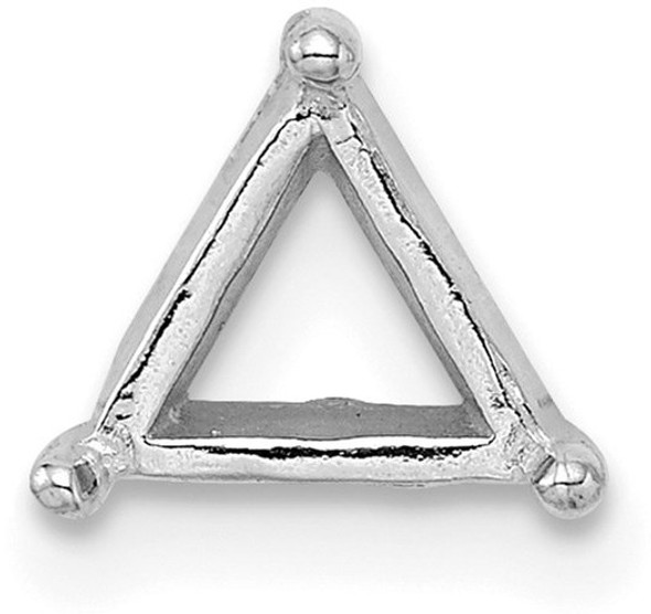 14k White Gold Triangle 6.5mm Setting