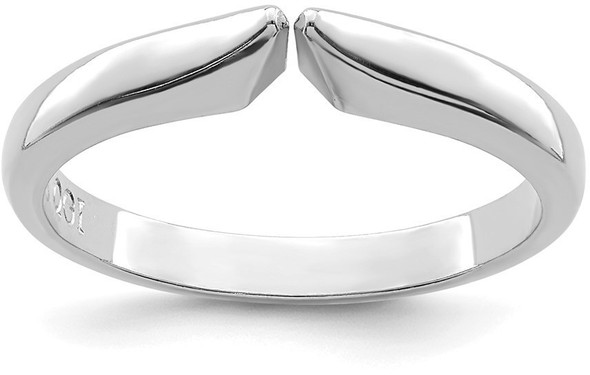 14k White Gold 4-prong 1/2 Round Medium-Heavy Weight (Pointed Shoulders) Shank