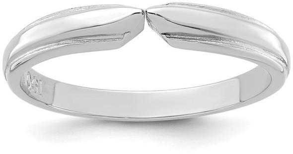 14k White Gold 4-prong 1/2 Round Medium Weight Flat Shoulders w/ Edge Shank