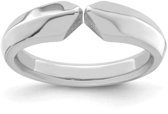 14k White Gold 4-prong Comfort Fit Ultra Heavy Weight (edge) Shank