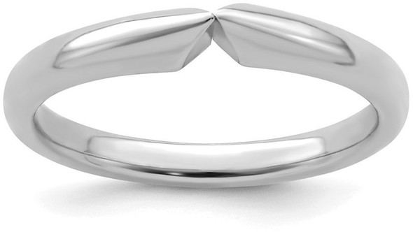 14k White Gold 4-prong Comfort Fit Medium to Heavy Weight Shank