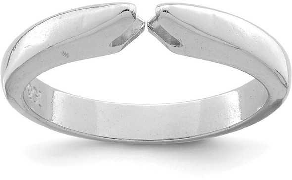 14k White Gold 4-prong Heavy Weight Air Line Shank