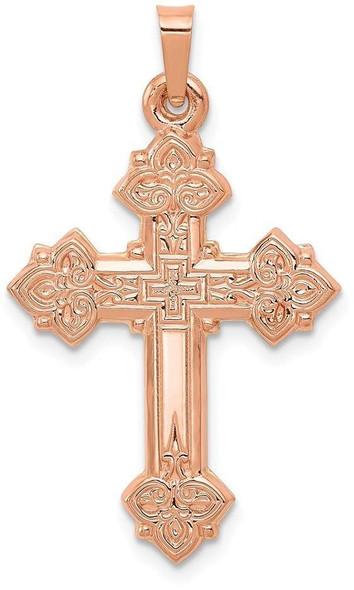 14k Rose Gold Cross Pendant XR1226