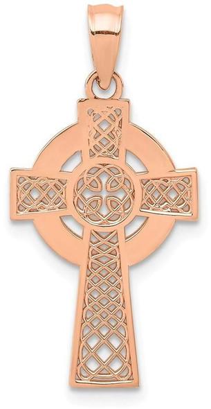 14k Rose Gold Celtic Cross Pendant
