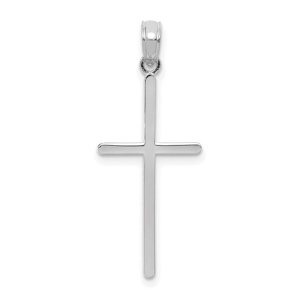10k White Gold Polished Cross Pendant 10C3784W