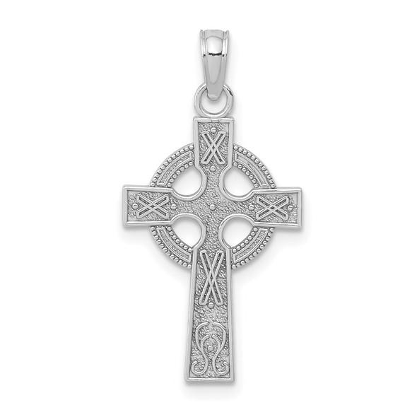 14k White Gold Celtic Cross Pendant K5047W