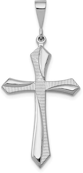 14k White Gold Passion Cross Pendant CH110