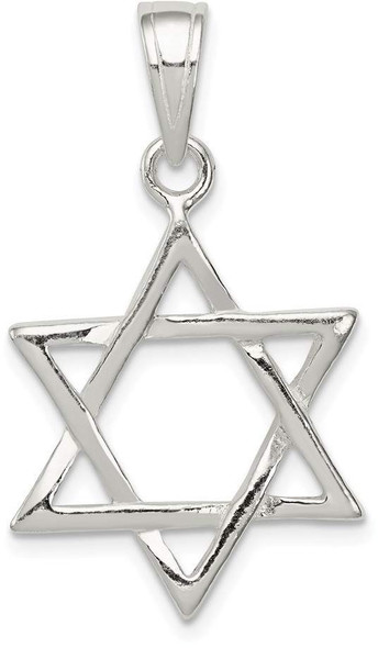 925 Sterling Silver Star Of David Pendant QC2887
