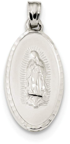 925 Sterling Silver Mary Medal Reversible Pendant