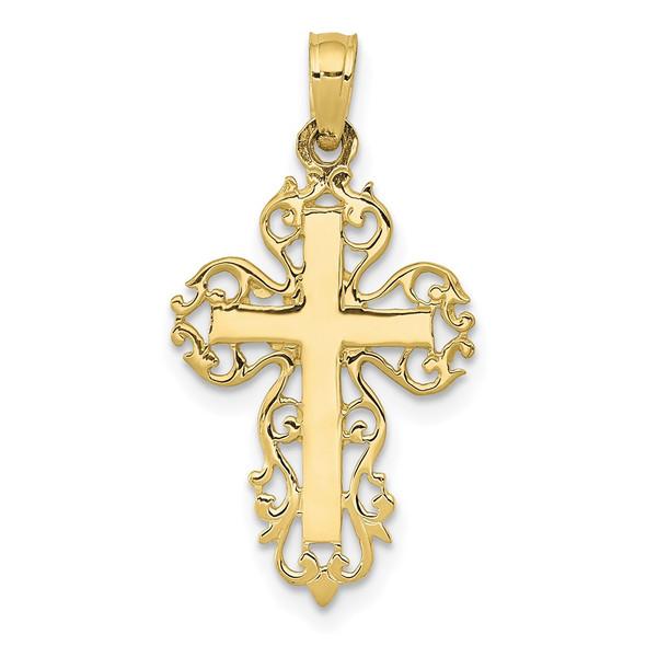 10k Yellow Gold Fancy Cross Pendant