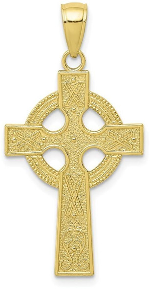 10k Yellow Gold Celtic Cross with Eternity Circle Pendant 10k5048