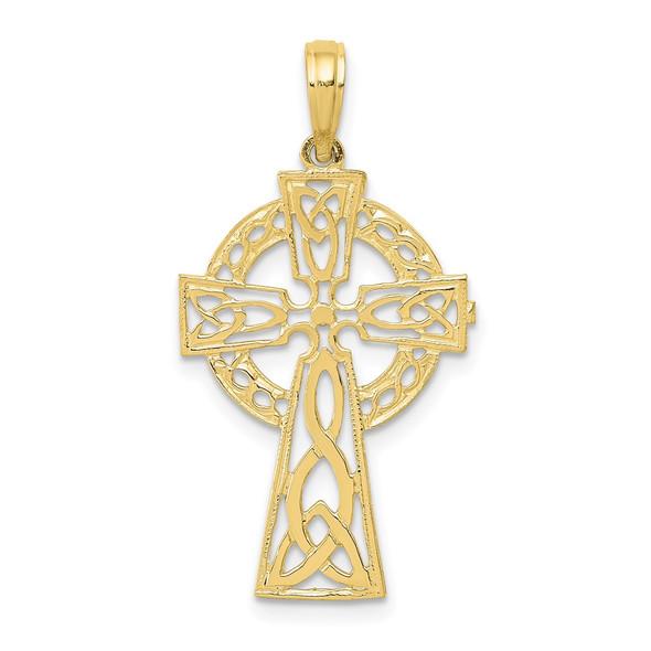 10k Yellow Gold Polished Celtic Cross Pendant