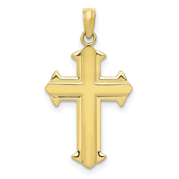 10k Yellow Gold Polished Cross Pendant 10D3521