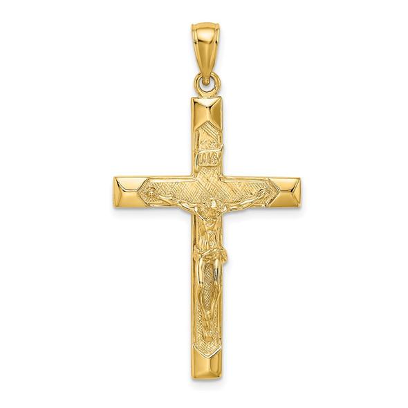 14k Yellow Gold Crucifix Pendant K8520