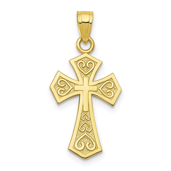 10k Yellow Gold Reversible Cross Pendant