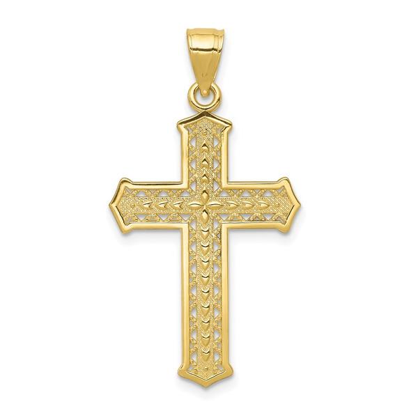 10k Yellow Gold Cross Pendant 10C1316