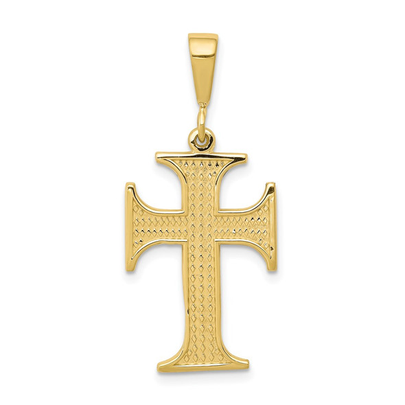 10k Yellow Gold Cross Pendant 10C312