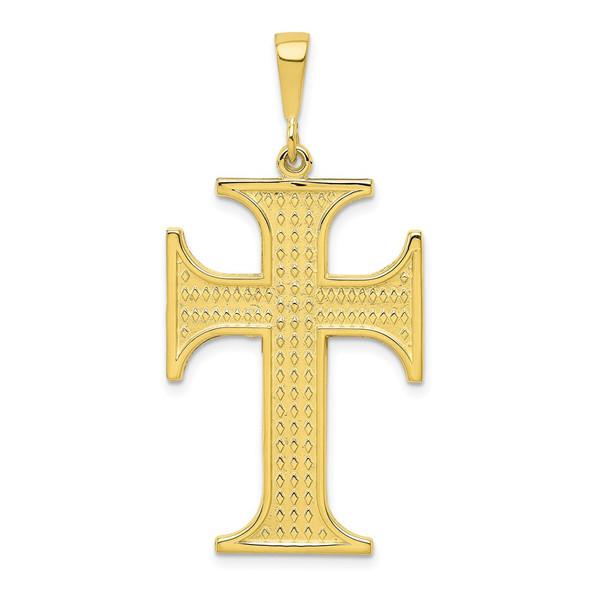 10k Yellow Gold Cross Pendant 10C314