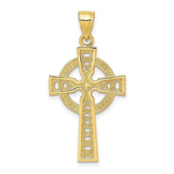 10k Yellow Gold Iona Cross Pendant