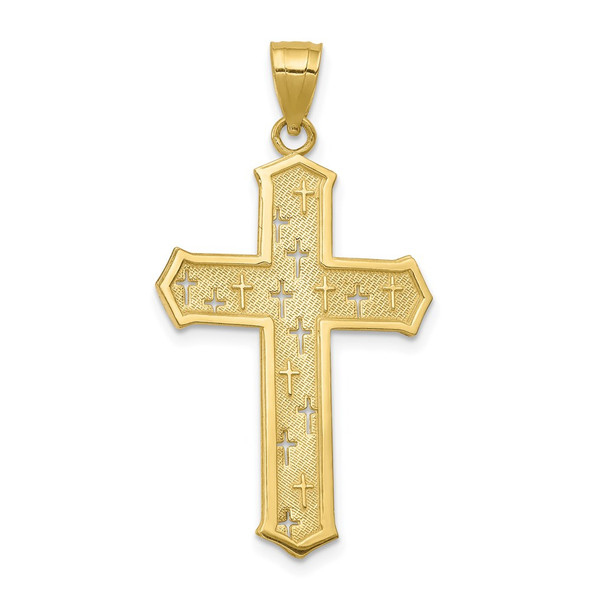 10k Yellow Gold Passion Cross Pendant 10C1317