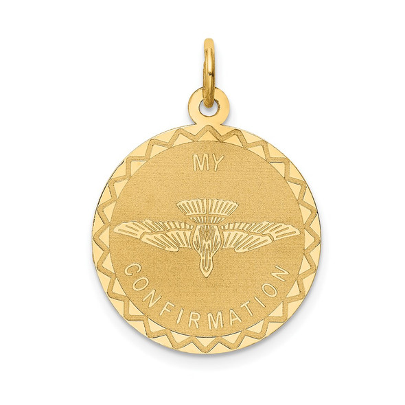14k Yellow Gold My Confirmation Pendant