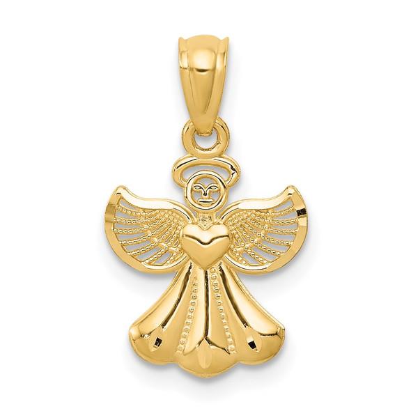 14k Yellow Gold Polished Angel Pendant XR918