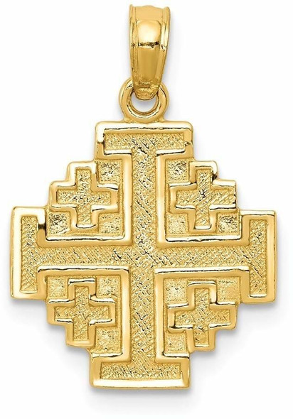 14k Yellow Gold Jerusalem Cross Pendant C3832