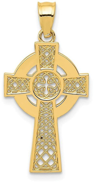 14k Yellow Gold Celtic Cross Pendant K5514