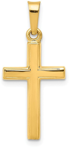 14k Yellow Gold Polished Latin Cross Pendant XR1413