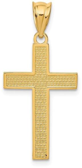 14k Yellow Gold Cross Pendant K4976