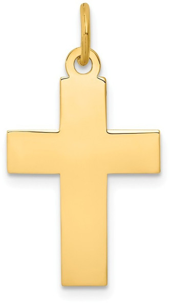 14k Yellow Gold Polished Cross Pendant REL75