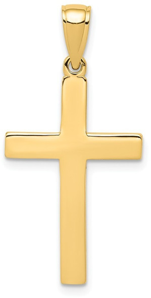 14k Yellow Gold Cross Pendant D3495