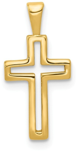 14k Yellow Gold Cross Pendant D167