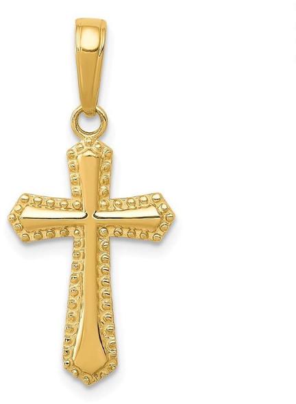 14k Yellow Gold Passion Cross Pendant K5046