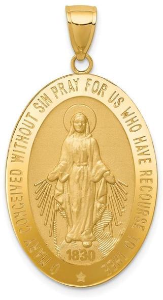 14k Yellow Gold Miraculous Medal Pendant REL135