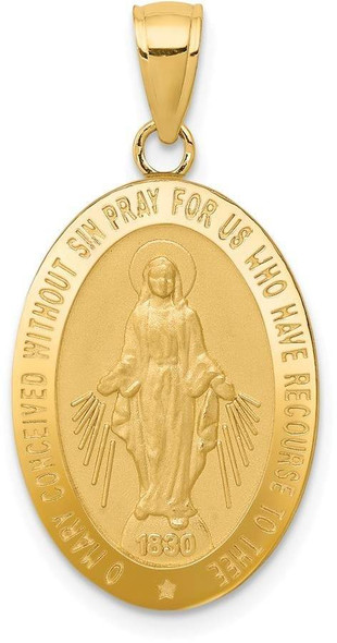14k Yellow Gold Miraculous Medal Pendant M1433