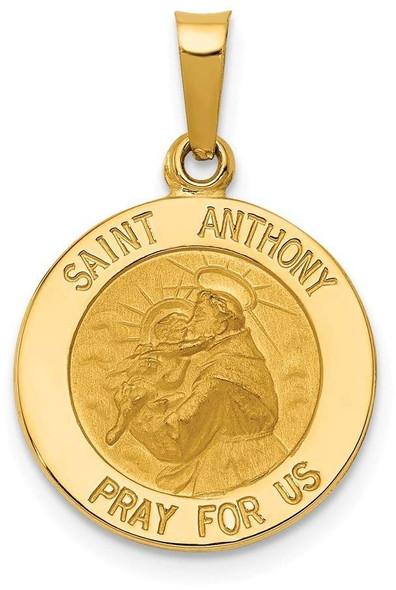 14k Yellow Gold Saint Anthony Medal Pendant M1492