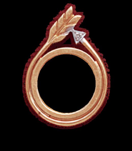 14K Gold DIAMOND ARROW SLIDE Bezel - Panda 1/20oz.,  Maple Leaf 1/20oz,