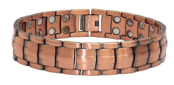 The Coach - Solid Copper  Magnetic    Bracelet
