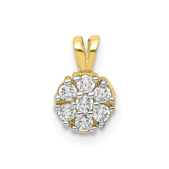10k Yellow Gold Small CZ Flower Charm 10C991