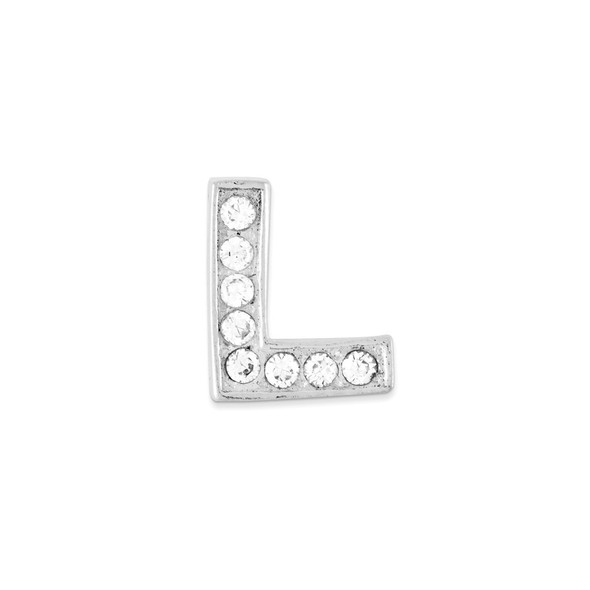 Sterling Silver CZ Initial L Pendant