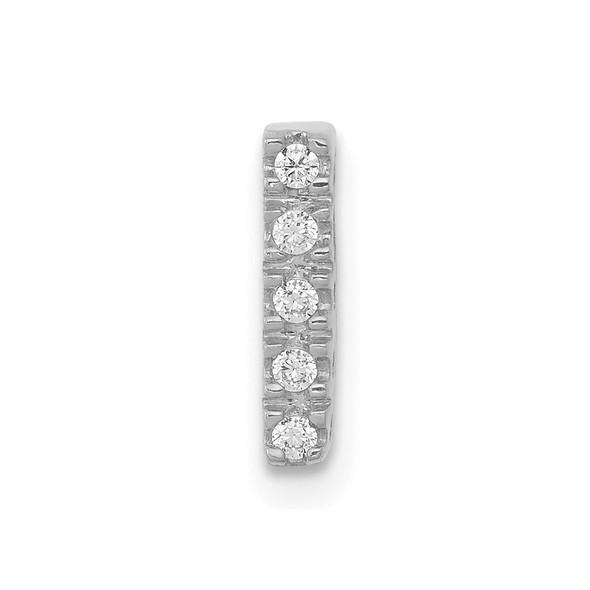 14K White Gold Diamond Initial I Charm
