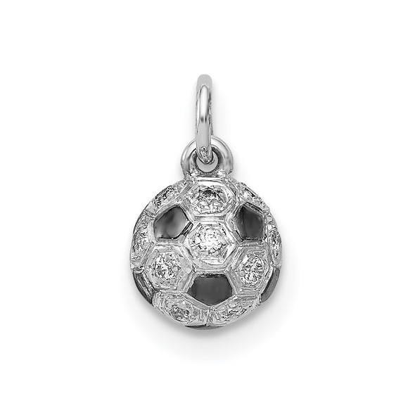 14k White Gold Diamond Soccer Ball Charm PM4136-010-WA