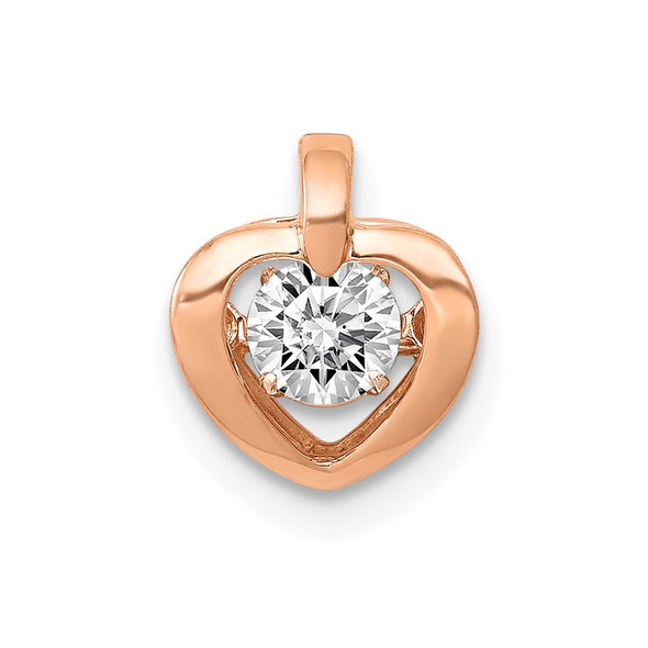 14k Rose Gold Lab Grown Diamond Si1/Si2, G H I, Pendant